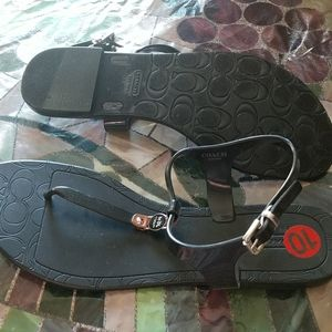 Coach Black Sandals new with tags!